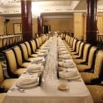 Todo preparado para la cena del Encuentro de Titanio, Oro y Diamante