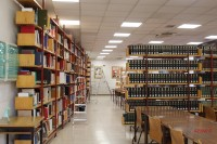 """Interior de la Biblioteca Santa María de los Ángeles """"Libreros"""", Universidad de Salamanca"""